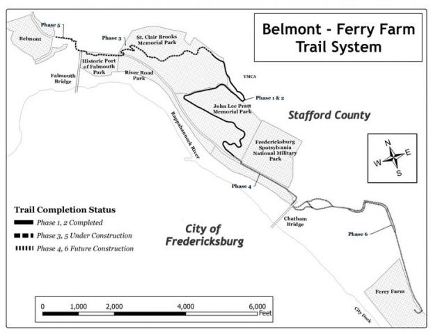 Belmont - Ferry Farm Trail Map