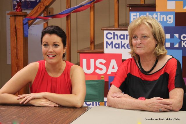 Actress Bellamy Young and Former Undersecretary of State Judith McHale Campaign in Fredericksburg for Hillary Clinton