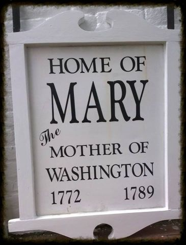 Mary Washington House Sign Returned