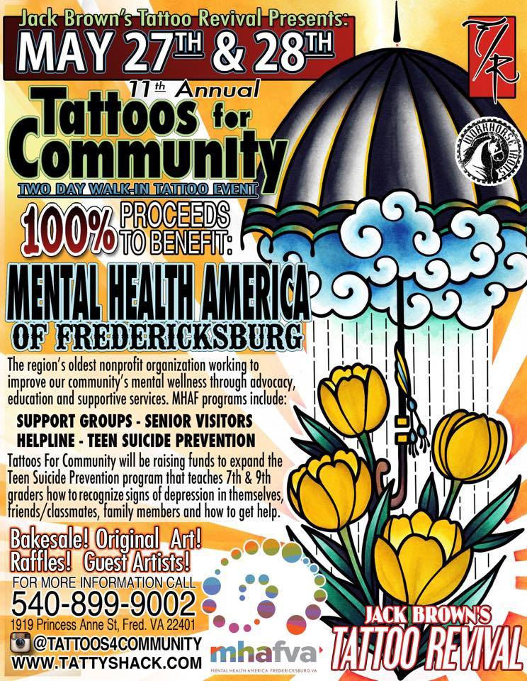 Jack Brown's Tattoo Revival to hold 11th Annual Tattoos for Community