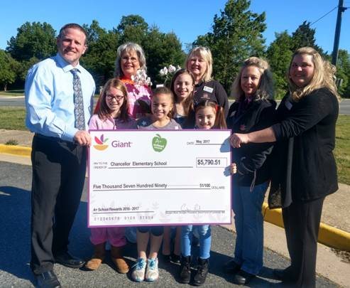 Chancellor Elementary wins Giant grant