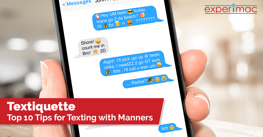 Top 10 tips for texting with manners