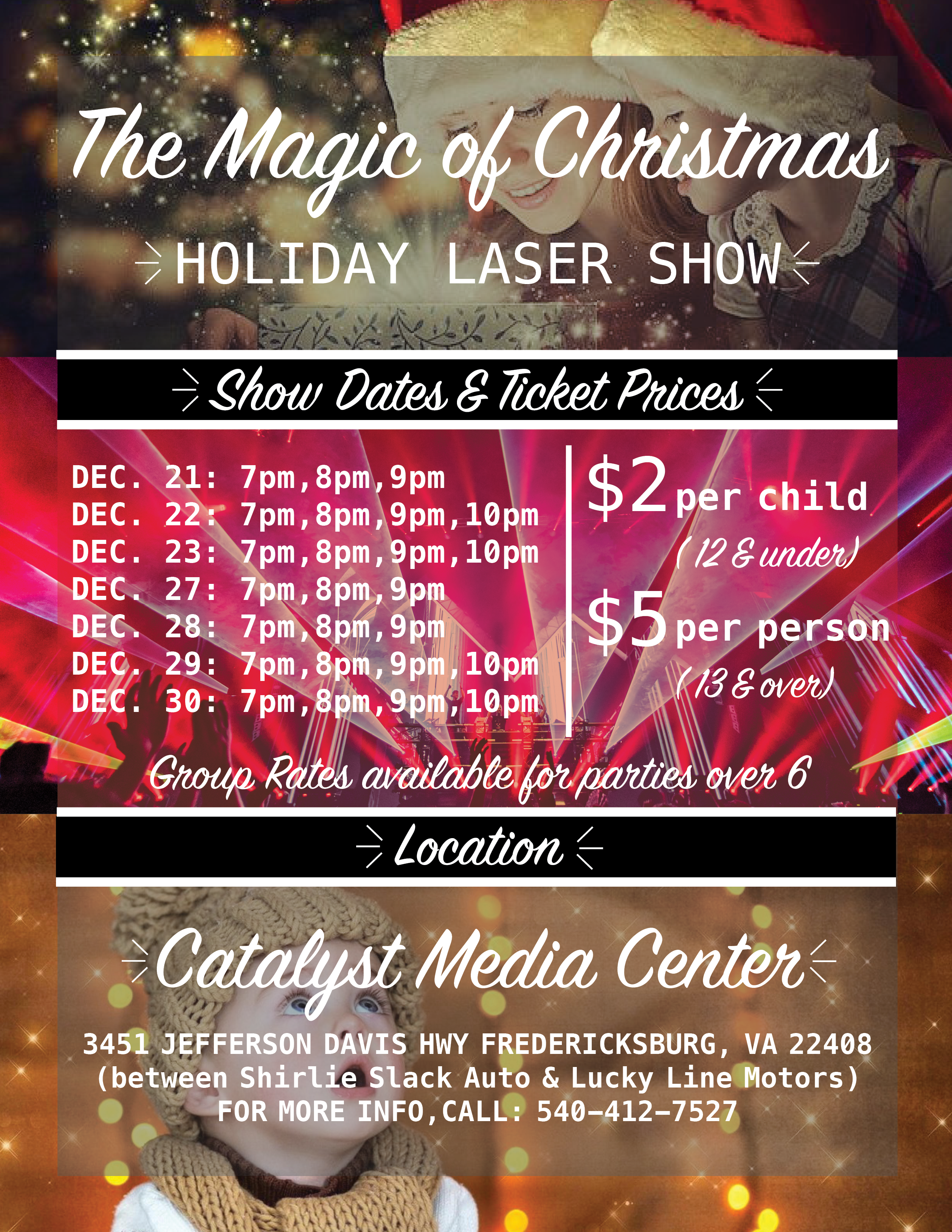 The Magic of Christmas Laser Show