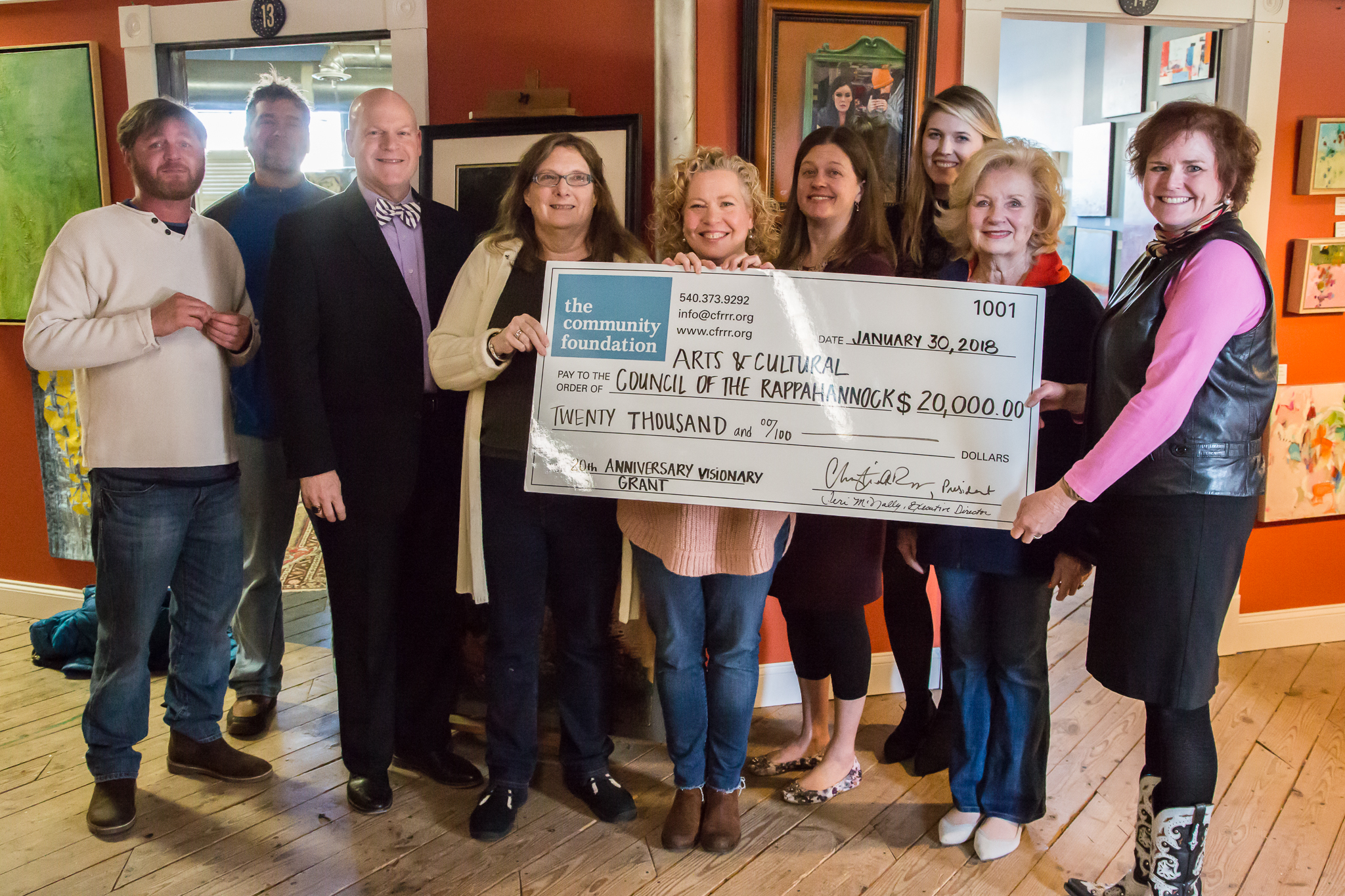 The Community Foundation awards grant to Arts and Cultural Council of the Rappahannock