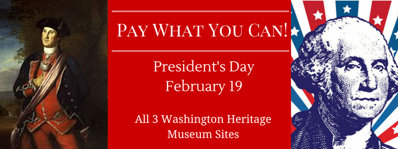 Presidents' Day – Pay What You Can!