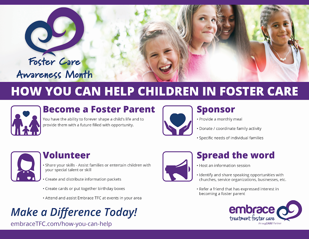 Embrace TFC seeks local businesses to support children in foster care