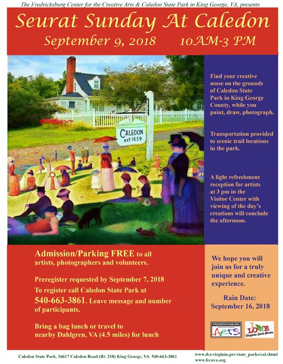"Caledon State Park and FCCA will host 2018 ""Seurat Sunday"""