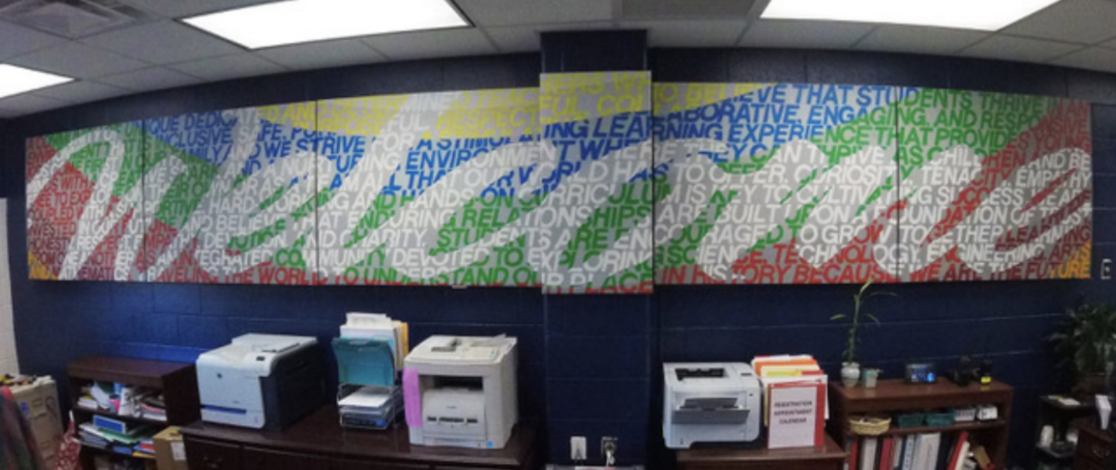 New Artwork at Hartwood Elementary Exemplifies School Spirit