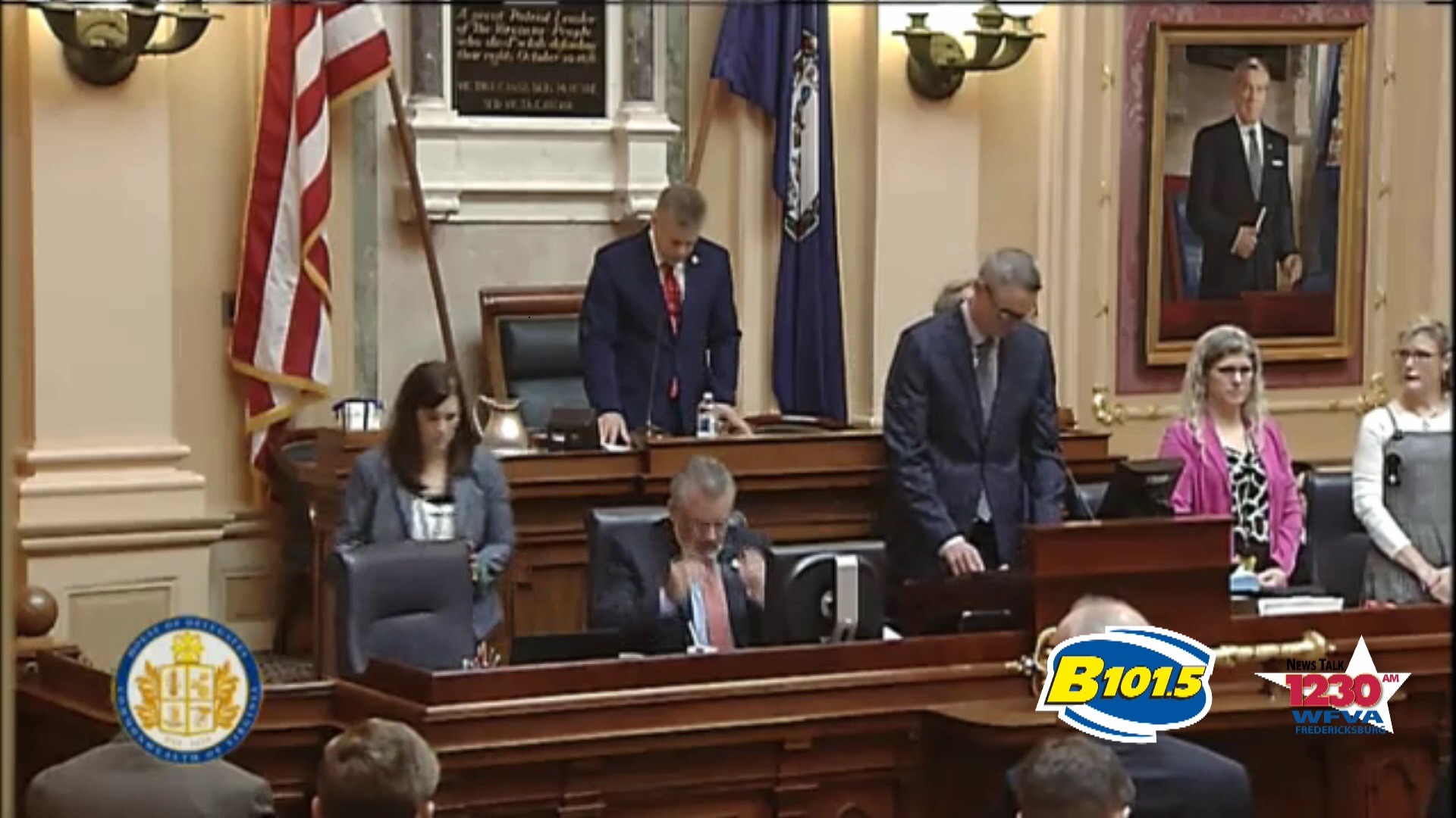 Area Director for Fellowship of Christian Athletes opens House of Delegates in prayer