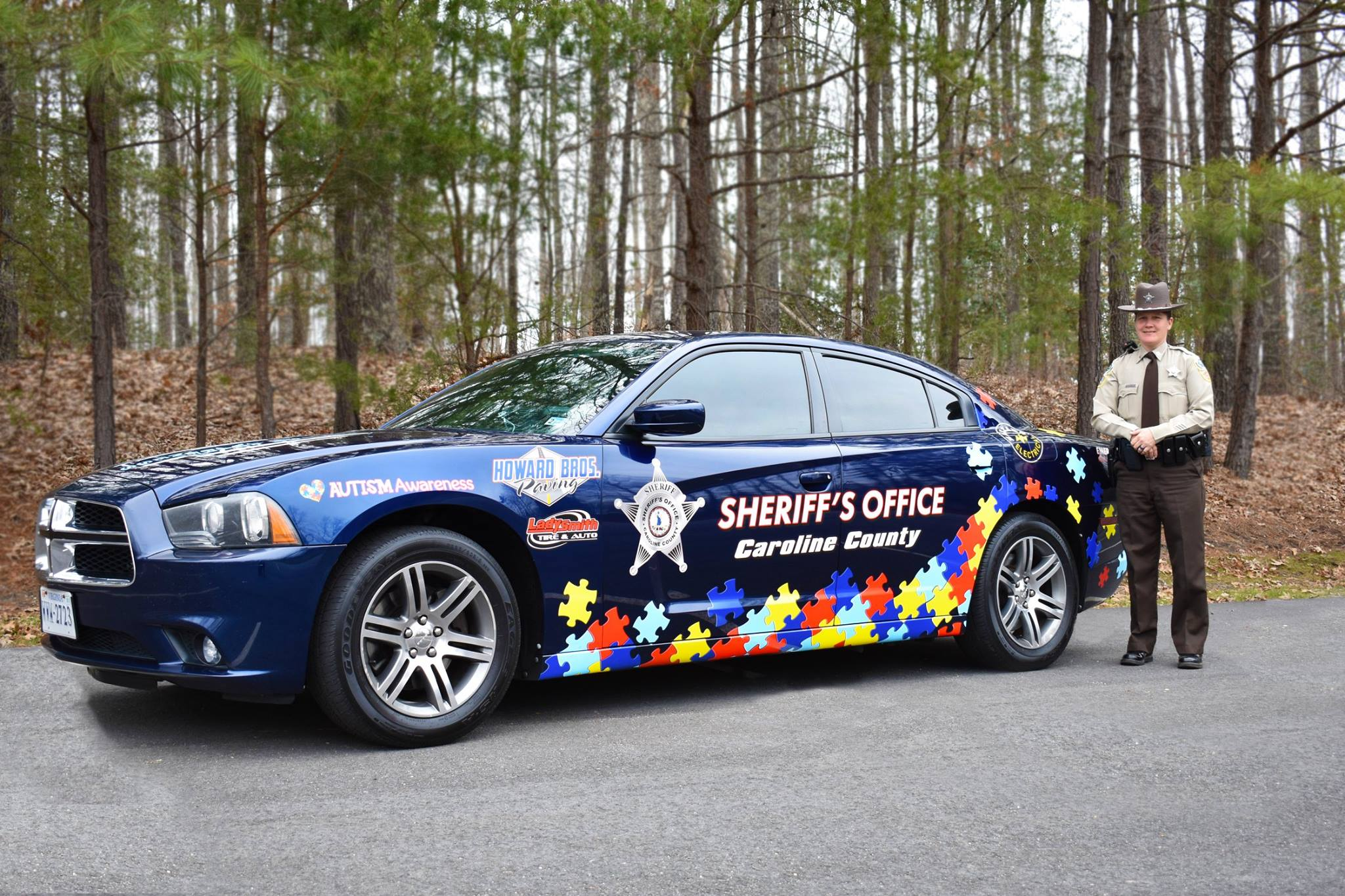 Caroline County Sheriff's Office car to highlight Autism Awareness