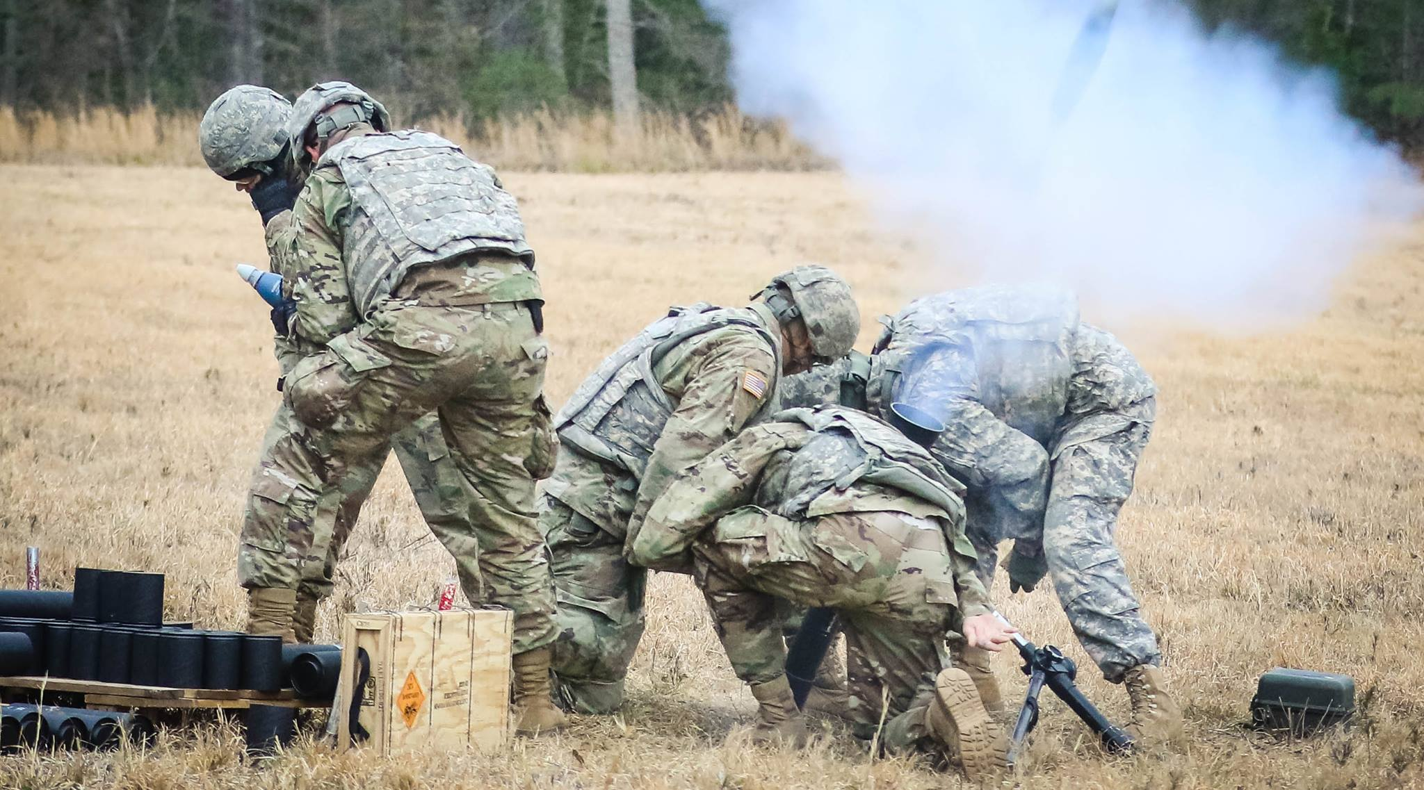 Boom!   Military testing this week at Fort AP Hill