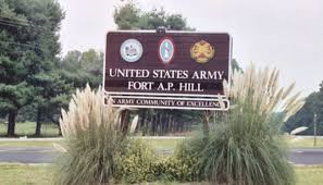 Test on Tuesday at Fort AP Hill will be loud.  It's only an exercise