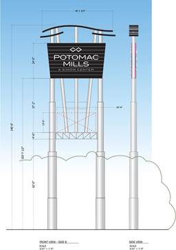Potomac Mills sign to be reinstalled
