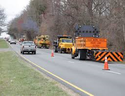 Road work around the area this week