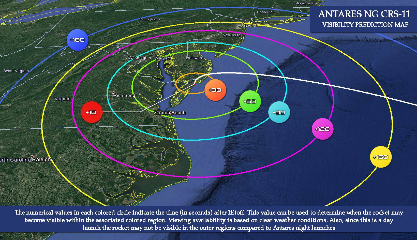 Wallops Island launch this afternoon.  We may see it