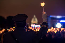 Fallen officers remembered in candlelight vigil on the Mall in DC