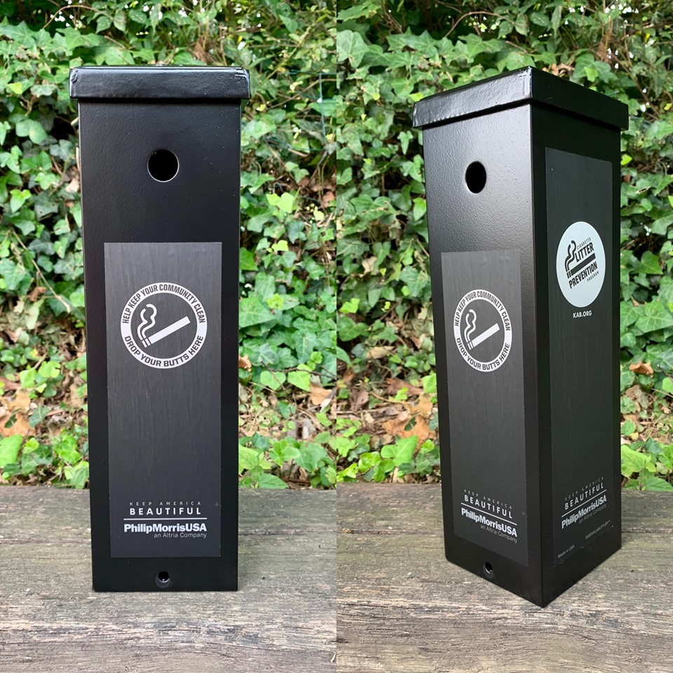 Fredericksburg parks get new cigarette butt disposal containers