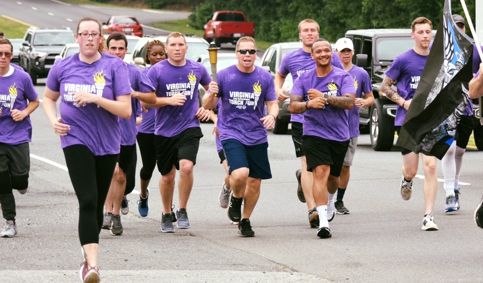 Special Olympics Virginia Law Enforcement Torch Run passes thru the region