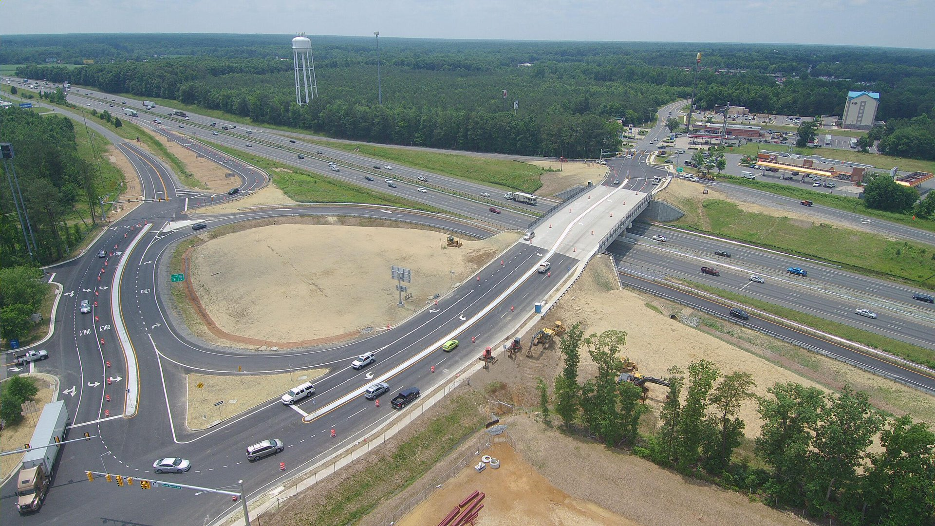 Thornburg I-95 interchange finished