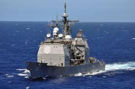 U-S-S Chancellorsville in near collision with Russian destroyer