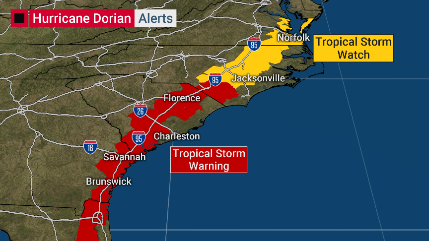 Dorian inches closer to Virginia