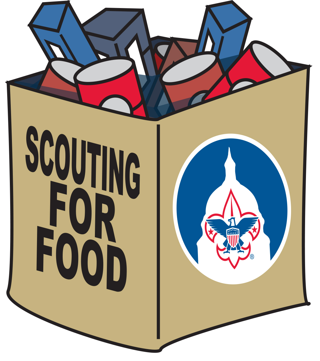 Scouts collecting food Saturday