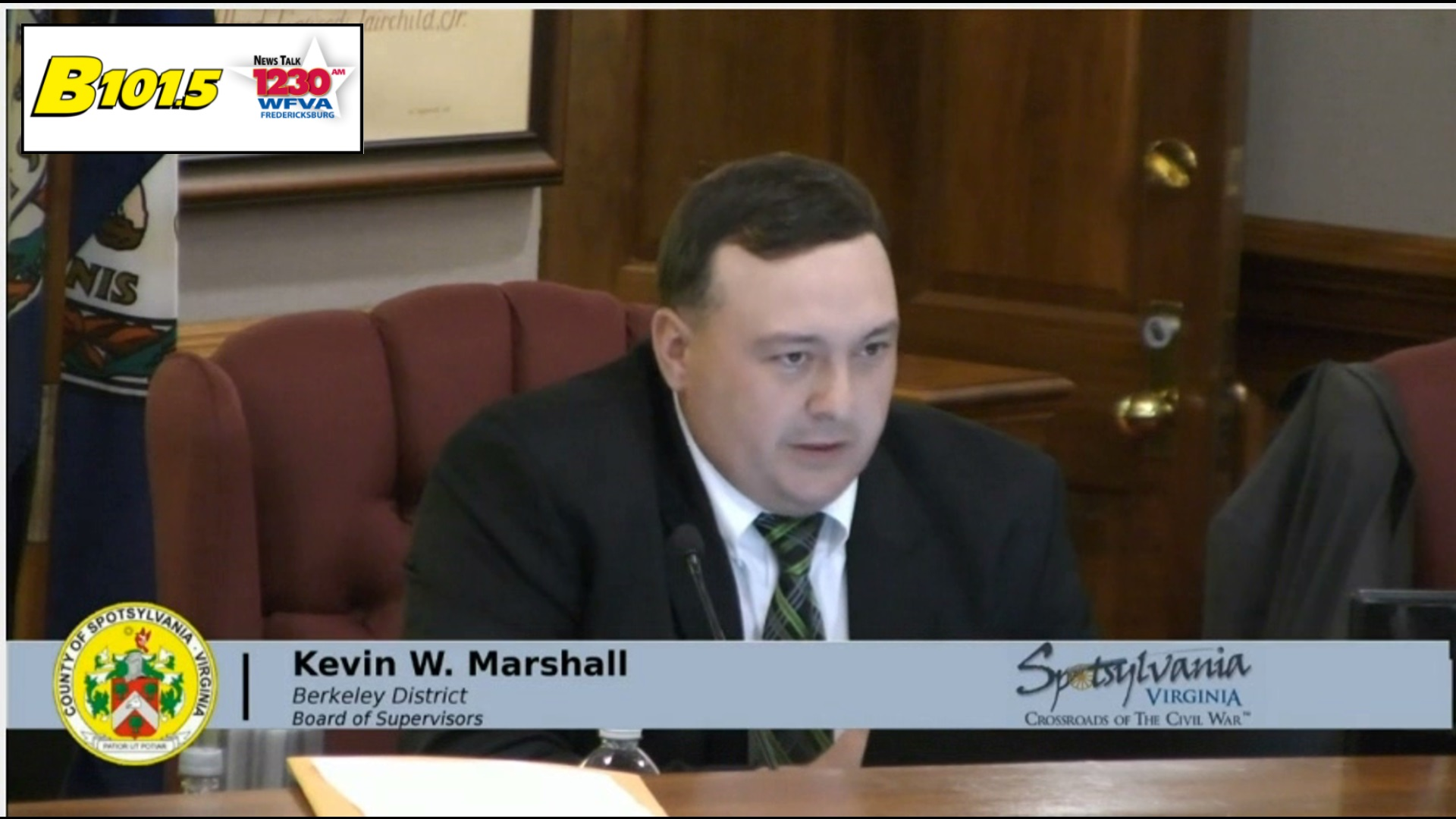 Spotsy employees cannot be on Board of Supervisors.  Marshall grandfathered