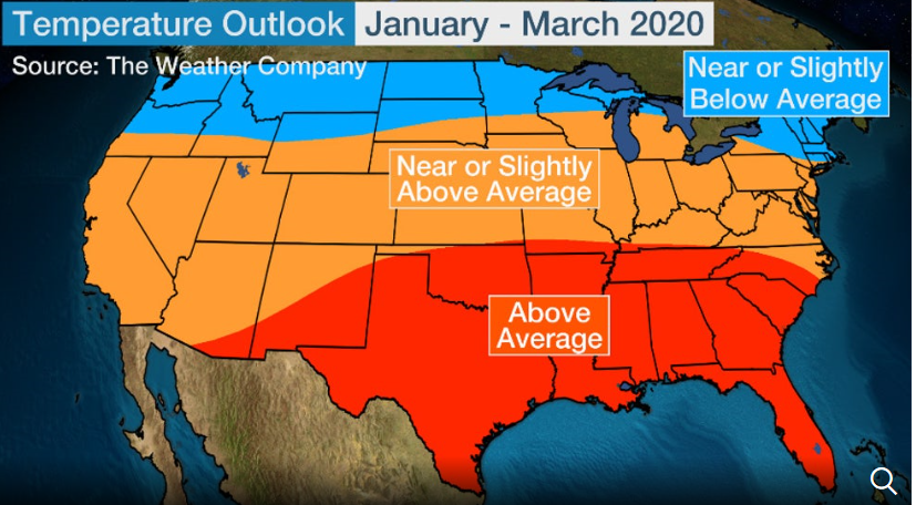 The Weather Channel:  Maybe a milder winter for us