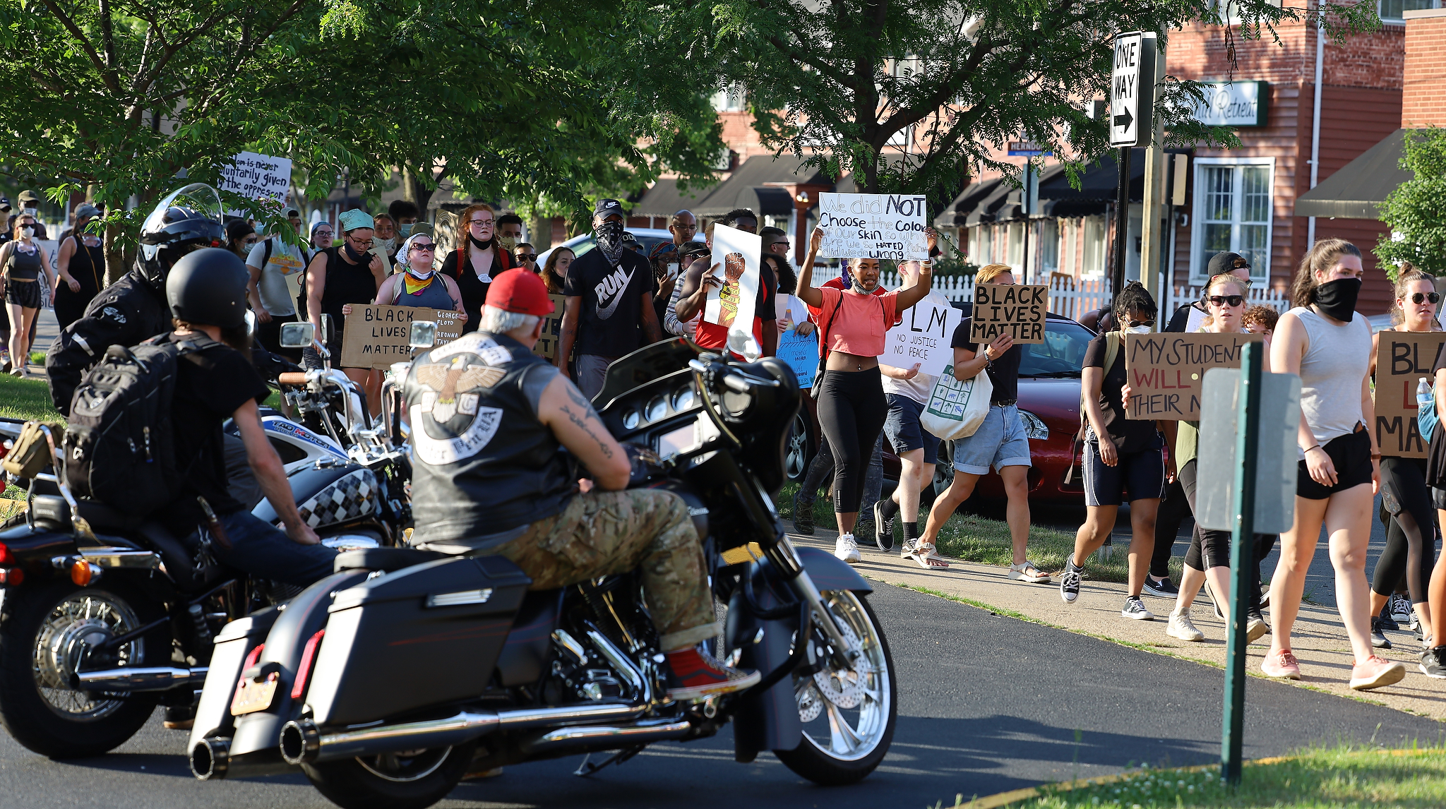 Protests continue Wednesday in Fredericksburg