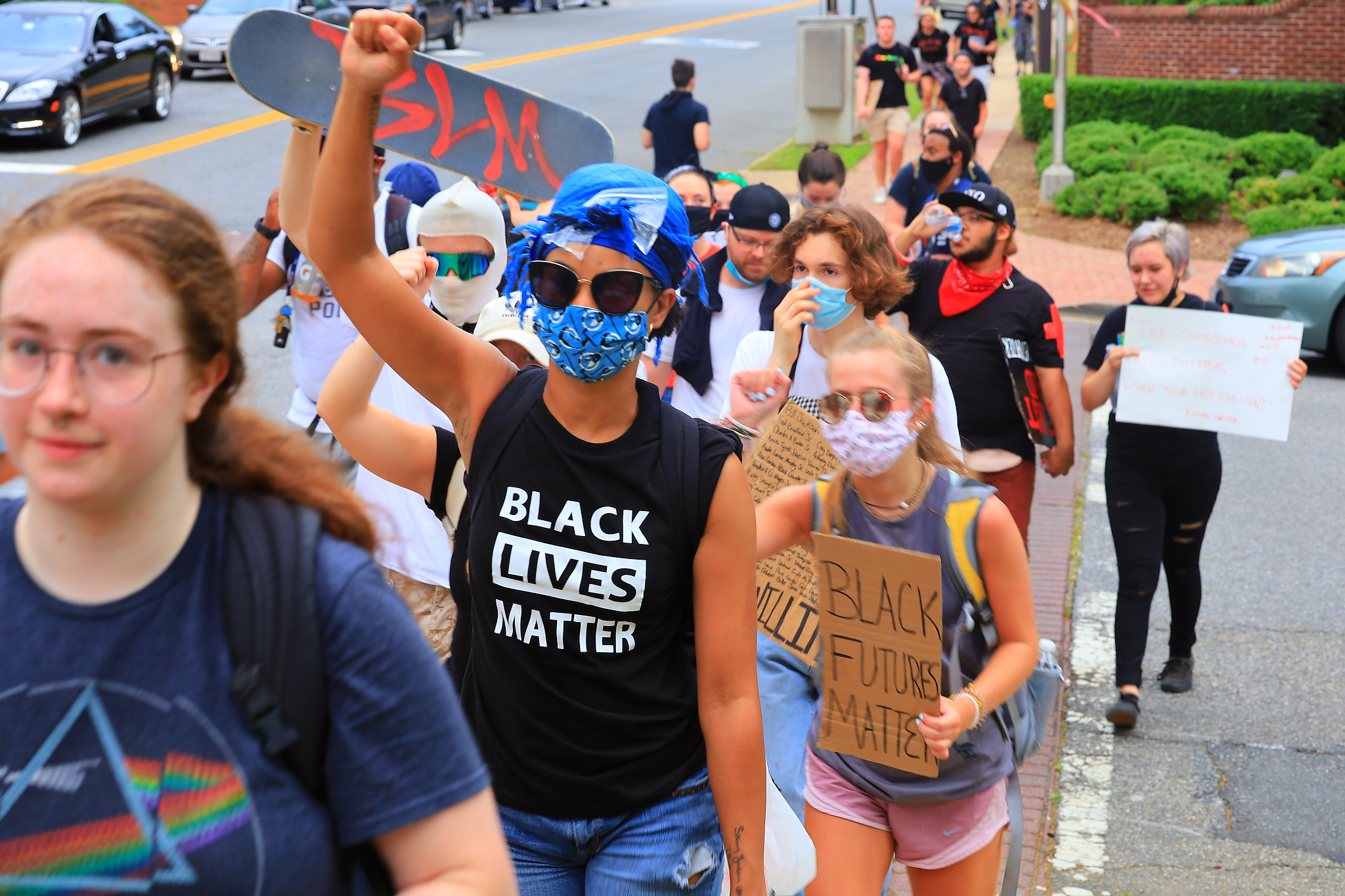 Photos: Protestors march to Central Park from Market Square