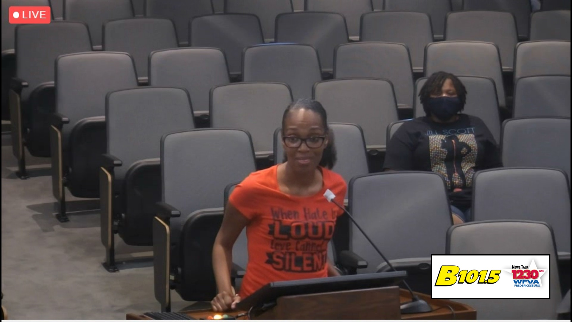VIDEO:  Stafford Supervisors asked to remove Confederate flag near I-95
