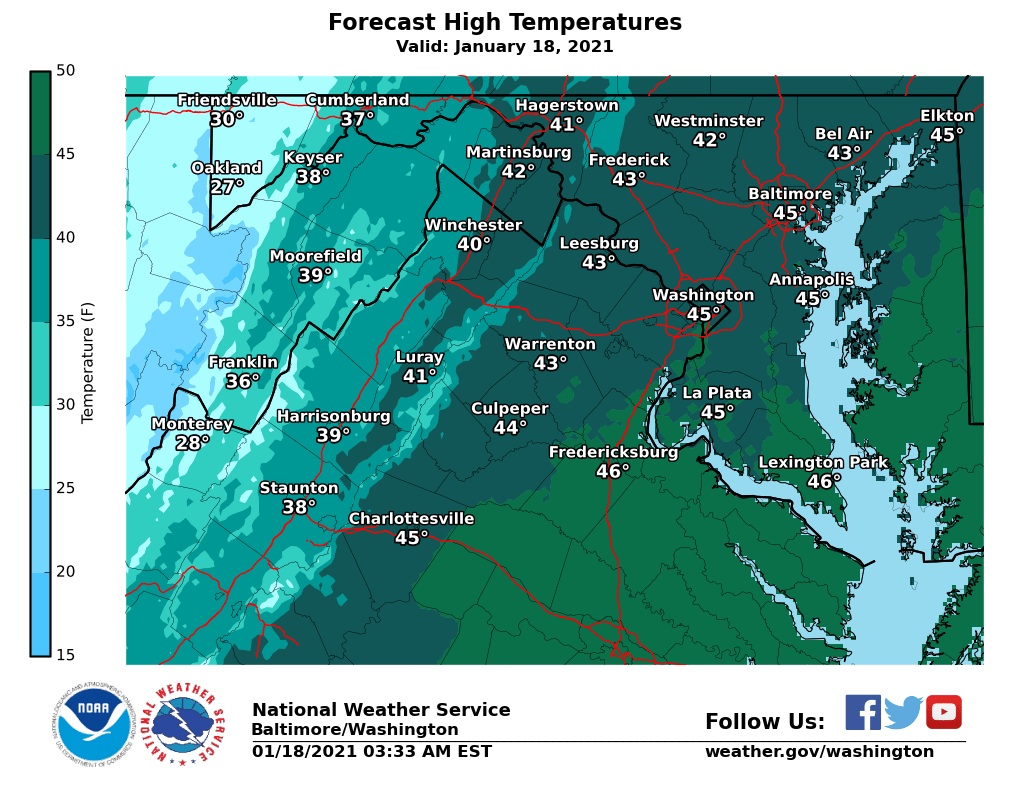 Windy and chilly MLK day ahead